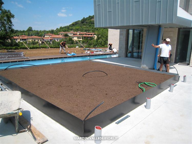 Privati villa moderna con parco e piscina progettazione - Villa moderna con piscina ...